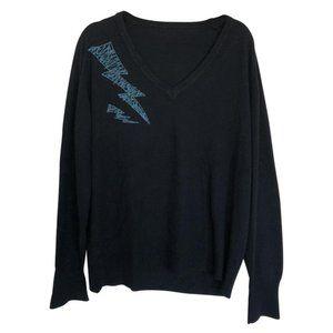 Navy Blue Lightning Bolt Vintage Sweater
